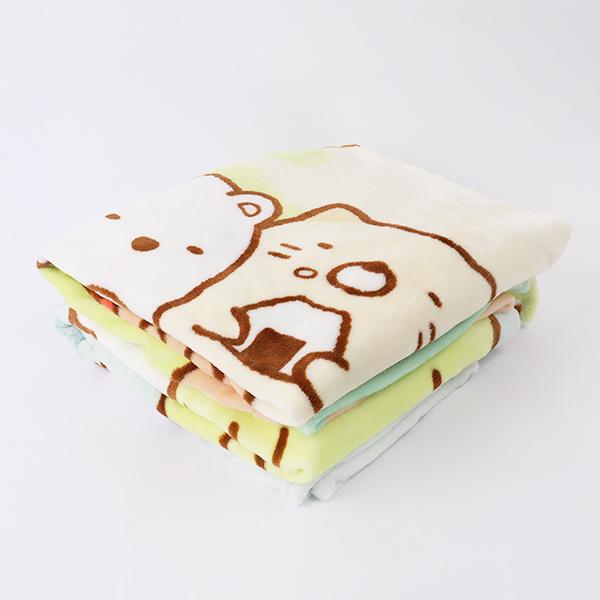 【角落生物法蘭絨毛毯100x150cm v2】Norns SAN-X正版 羊羔絨刷毛毯 懶人毯 保暖毯 棉被