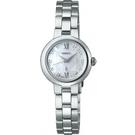 【台南 時代鐘錶 SEIKO】精工 LUKIA 菱格水晶 羅馬字 太陽能女錶 SSVR133J V117-0EF0S 鋼錶帶 22.8mm