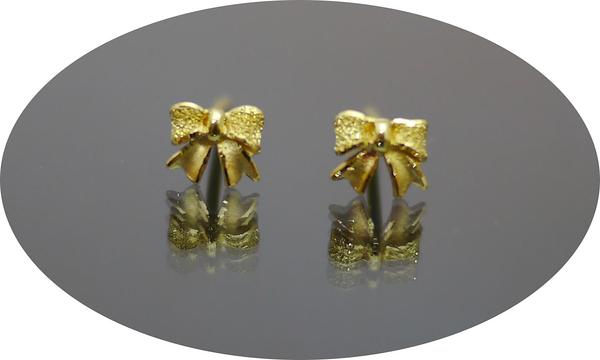 gold 黃金 耳環 金飾 保證卡 重量0.26錢 [ ge 049 ]