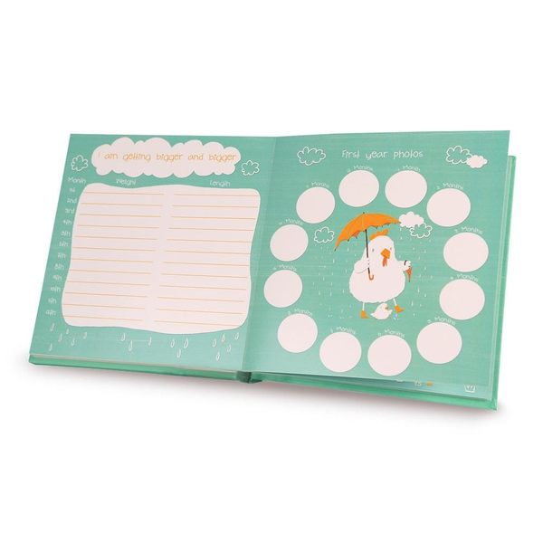 Gifthing新生嬰兒禮物滿月禮物新生兒成長記錄雞仔寶寶紀念冊