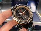 MASERATI瑪莎拉蒂男錶46mm黑色, 玫瑰金色錶面深黑色錶帶