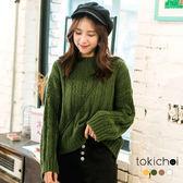 東京著衣-多色自然恬適條紋針織上衣(172955)