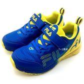 《7+1童鞋》FILA 2-J829S-399 輕量透氣 魔鬼氈 氣墊鞋 運動鞋 慢跑鞋 4228 藍色