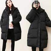 孕婦裝 金典黑色孕婦外套 女中長版寬鬆迷你保暖外套