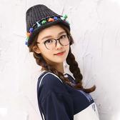 毛帽 針織帽 毛帽 彩色 流蘇 民族風 毛帽【QI1032】 icoca