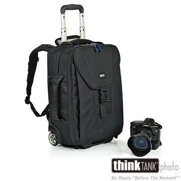 創意坦克 ThinkTank AT498 雙肩後背滾輪行李箱 Airport Take Off 可攜帶單腳架與三腳架【彩宣公司貨】