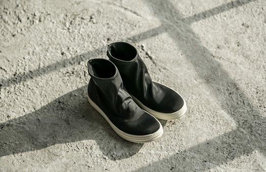找到自己 MD 日系 高品質 時尚 潮 男 雙層彈力布 高幫 低跟休閒鞋 低跟鞋