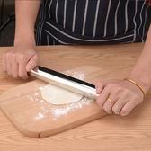 304不銹鋼搟面杖餃子皮壓面棍家用烘焙工