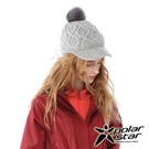 【PolarStar】女保暖馬球帽『灰』P20601 冬季.禦寒.保暖.毛球帽.素色帽.針織帽.毛帽.毛線帽