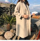 大衣 復古 雙排釦 呢  長大衣 九分袖 外套 M、L碼【MYGZ862】 ENTER