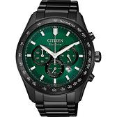 聖誕節推薦款 CITIZEN 星辰 光動能計時手錶-綠/43mm CA4455-86X