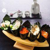 木制品壽司手卷架日式餐具日韓料理酒店餐廳碳化竹手卷架冰激凌架【小梨雜貨鋪】