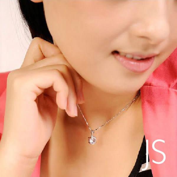 項鍊【JS精心苑】韓版八心八箭仿鑽石項鏈 短款/飾品/配件/水鑽/墜子