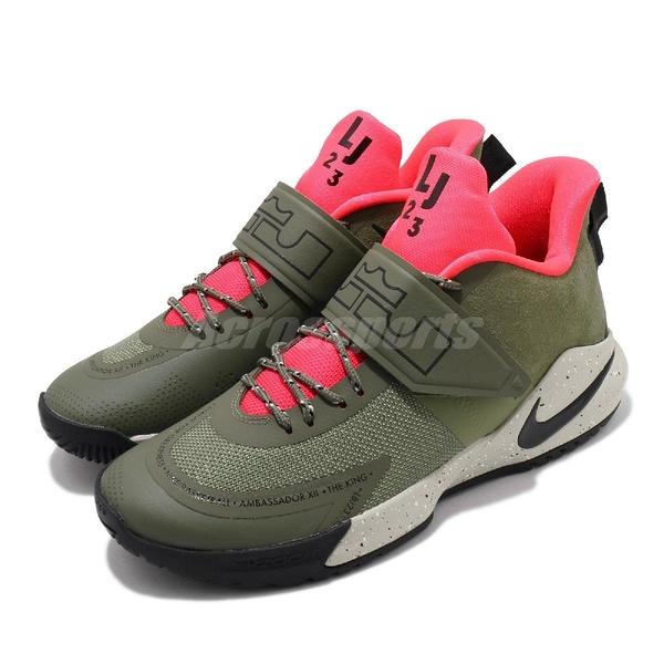Nike 籃球鞋 LeBron Ambassador XII 綠 黑 男鞋 運動鞋 【ACS】 BQ5436-300