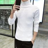 毛衣男 男士毛衣加厚潮流高領毛衣男韓版套頭針織衫青年線衣修身   傑克型男館