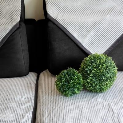 時尚簡約日式加厚灰色沙發巾 四季沙發墊防滑沙發套