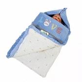 秋冬加厚純棉新生兒睡袋 嬰兒拉鍊防踢被抱被抱毯兩用  布衣潮人