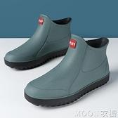 男士雨靴 韓版雨鞋男水鞋短筒防滑雨靴水靴成人廚房洗車膠鞋 母親節特惠