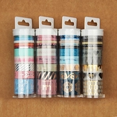 七七 燙金燙銀 和紙膠帶 歐美套裝設計 粘膜貼 學生文具手帳·享家