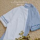 T恤  GIRL袖刺繡流蘇棉質T恤   二色-小C館日系