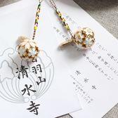 手機掛繩日本清水寺祈福背包掛件櫻花開運鈴鐺鑰匙手機掛繩    麻吉鋪