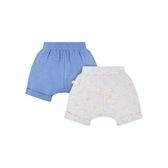 mothercare 2入白藍運動短褲-叢林冒險(M0SA680)03~09個月、18個月
