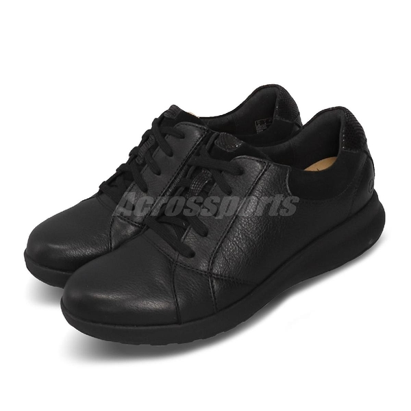 Clarks 休閒鞋 Un Adorn Lace 黑 全黑 真皮鞋面 女鞋 【PUMP306】 CLF36071AC18