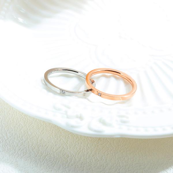 Z.MO鈦鋼屋 白鋼戒指 精美單鑽戒指 女生戒指 生日禮物 情人禮物 換鑽戒指 單只價【BKS660】