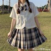 短袖襯衫 日系短款jk制服基礎款白色襯衣短袖白襯衫女設計感小眾上衣夏季天 中秋節好禮