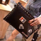 韓版時尚手拿包信封包百搭簡約休閒斜挎小包女包【非凡上品】h525