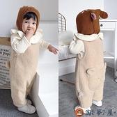 嬰兒背帶褲子保暖寶寶加絨加厚春秋冬季棉褲運動褲【淘夢屋】