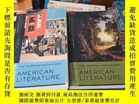 二手書博民逛書店THE罕見NORTIN ANTHOLOGY AMERICAN LITERATURE——兩本合售Y219192