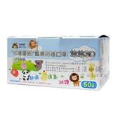 台灣優紙 醫療防護口罩 幼幼3D 50入裝 顏色隨機