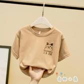 男童T恤夏季短袖韓版兒童上衣體恤韓版百搭【奇趣小屋】