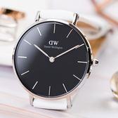 DW Classic Petite Bondi 28mm 銀框 極簡清新經典腕錶 DW00100286 皮錶帶 熱賣中!