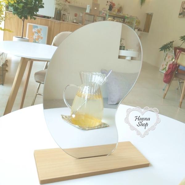 《花花創意会社》外流。簡約不規則化妝鏡木質桌面造型擺設布置【H7176】