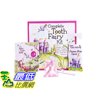 [106美國直購] Pink 乳牙保存盒 Baby Tooth Album Fairyland Complete Collection Kit