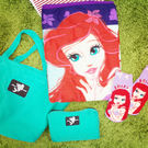 PGS7 日本迪士尼系列商品 - 迪士尼 居家 禮盒組 愛麗兒 小美人魚 收納包 毯子 襪子【SFJ5232】
