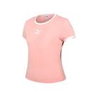 PUMA 女貼身短袖T恤(休閒 上衣 Classics 歐規≡體院≡ 59957726