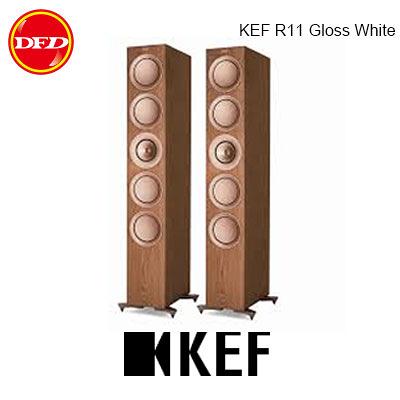 英國 KEF R11 Walnut 旗艦三路分音座地揚聲器 全新12代Uni-Q 同軸共點單元 胡桃木 台灣公司貨