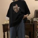 2021年夏季復古港風短袖T恤女韓版大碼寬鬆半袖港味chic上衣ins潮 【端午節特惠】