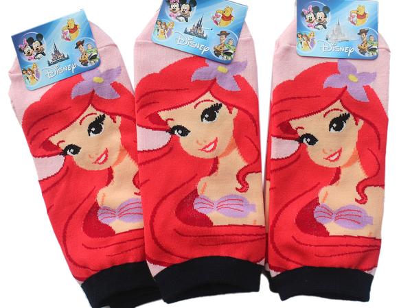【卡漫城】 小美人魚 直版 襪子 3雙一組 19~21cm ㊣版 短襪 童襪 女生 mermaid 愛麗兒 Ariel