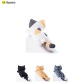 小明同學Hamee小貓咪爬行貓智慧手機3.5mm耳機孔通用迷你可愛防塵塞三花貓