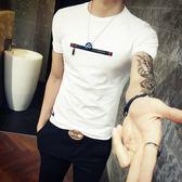 短袖T恤 純棉-時尚個性拉鍊裝飾男上衣4色73ms33[巴黎精品]