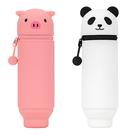 Lihit Lab 動物造型筆袋 2 入- 小豬+熊貓