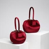 手提包-真皮歐美時尚純色復古女絨布包4色73tn4[巴黎精品]