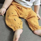 嬰兒褲子薄款1-3歲外穿純棉麻燈籠長褲男女 寶寶大屁屁褲子  伊衫風尚