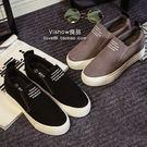 帆布鞋 韓版 內增高厚底 平跟休閒鞋