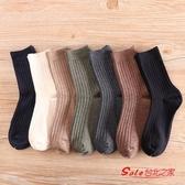 棉襪 襪子男冬季長襪男士中筒棉線襪黑色商務男襪純色秋冬款 多色