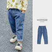 大口袋伸縮腰反折兒童牛仔長褲/ 衣櫃控-WardrobE / WE058